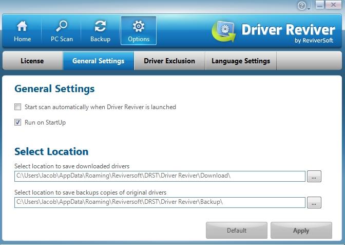 Driver Reviver Options