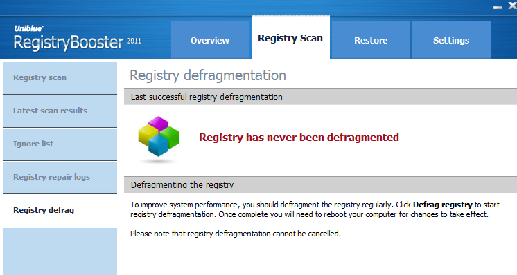 Registry Booster Defrag
