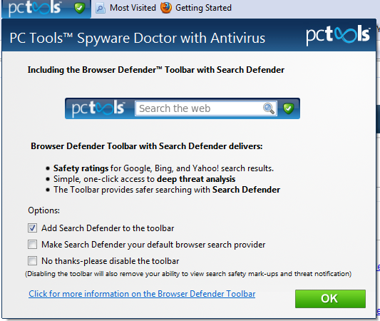 Spyware Doctor with Antivirus Browser Defender