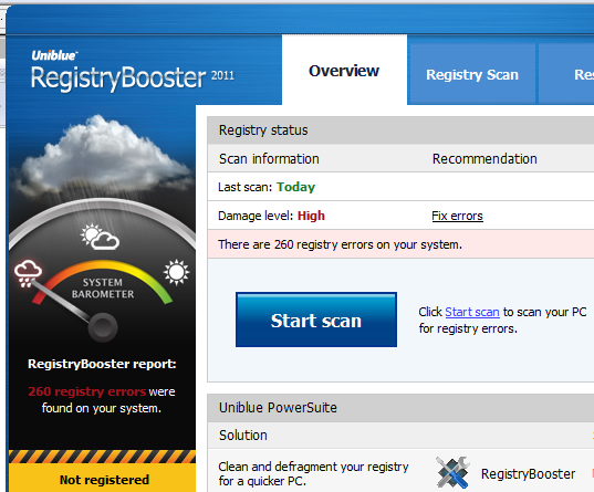 Registry Booster Scan