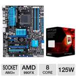 ASUS M5A99FX Pro R2.0 Socket AM3+ Motherboa Bundle